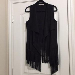 The impeccable pig faux swede vest Size L